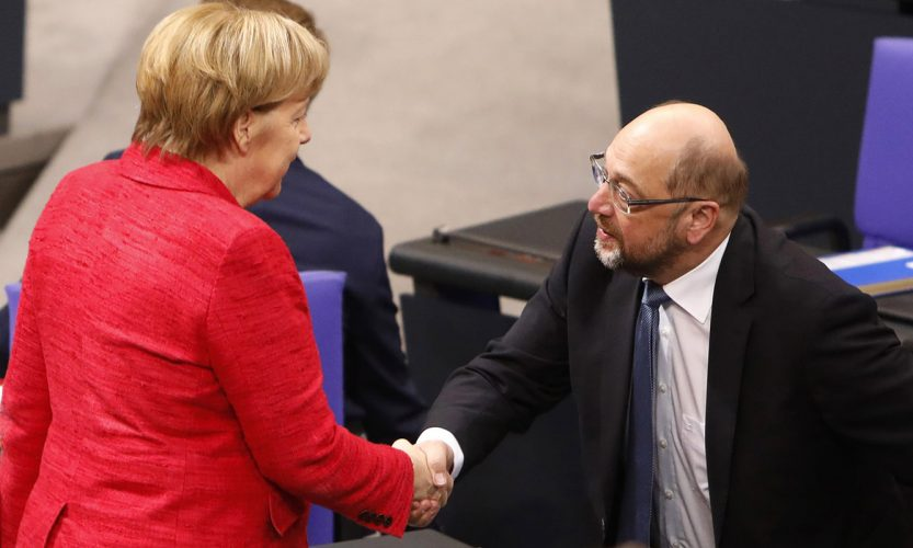 Angela Merkel i Martin Šulc (Getty Images)
