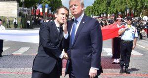Emanuel Makron i Donald Tramp (USA Today)
