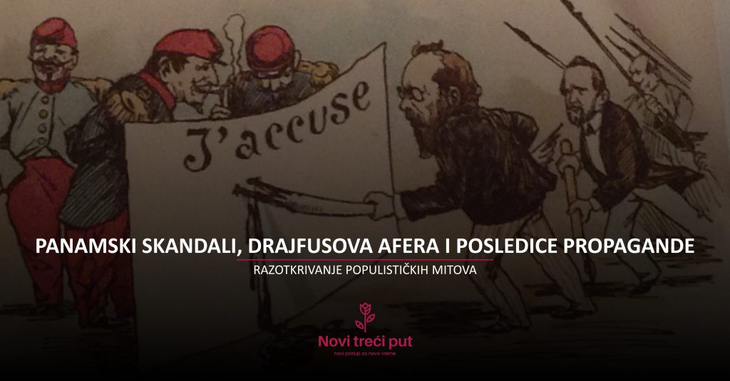 Panamski skandali, Drajfusova afera i posledice propagande