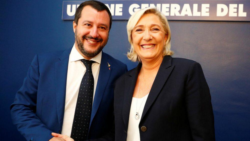 Mateo Salvini i Marin Le Pen (Reuters)