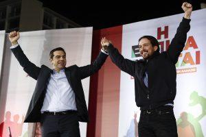Aleksis Cipras i Pablo Iglesias (Bloomberg)