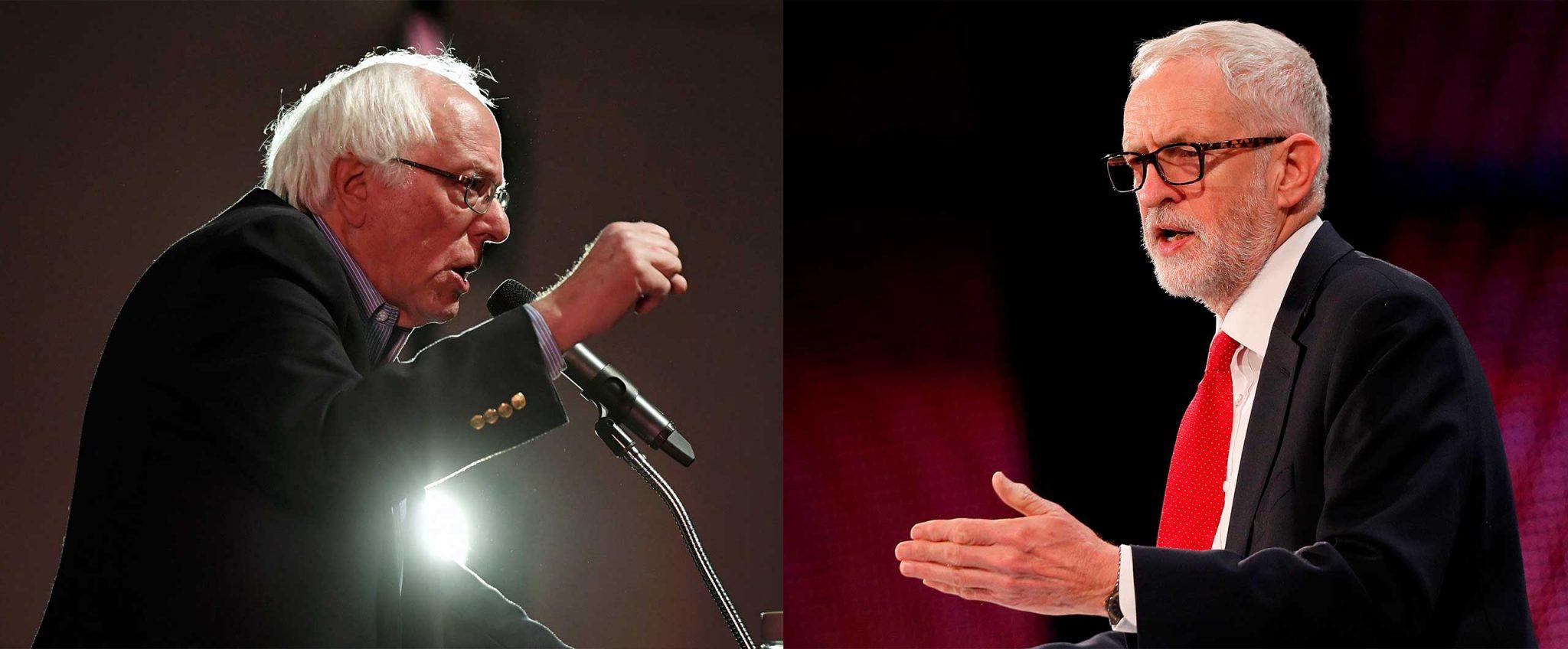 Berni Sanders i Džeremi Korbin (Getty Images, AFP)