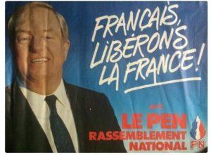 Izborni plakat Žan Mari Le Pena