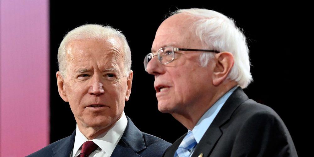 Džo Bajden i Berni Sanders (AFP)