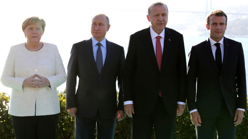 Erdogan Merkel Makron