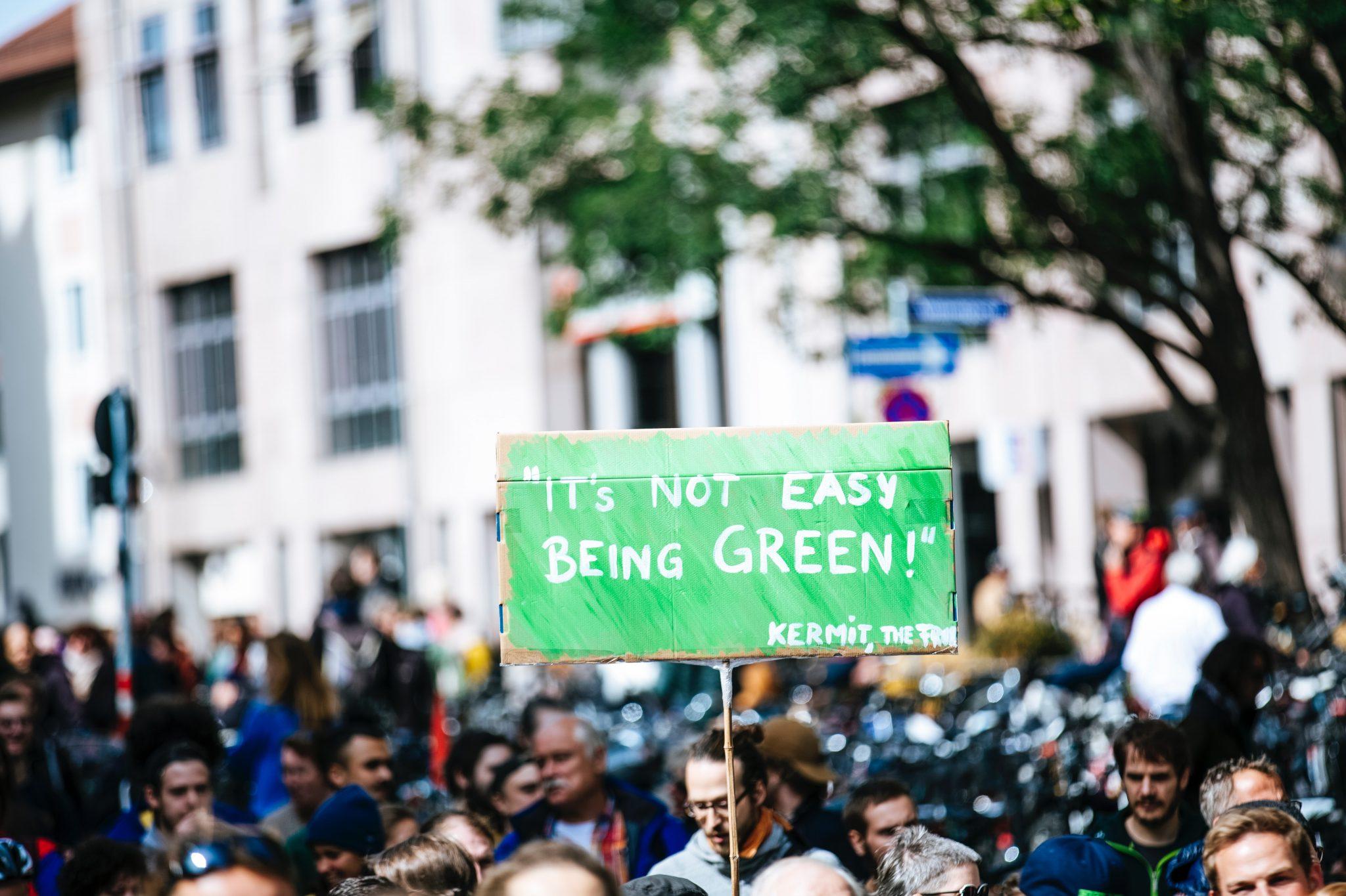 ekološki protest - fotografija Markus Spiske